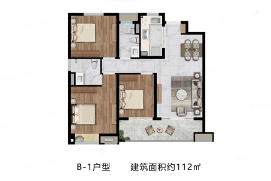 中海左岸澜庭  3室2厅1厨2卫