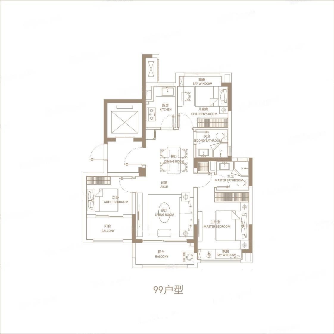 悦辰府  3室2厅1厨2卫