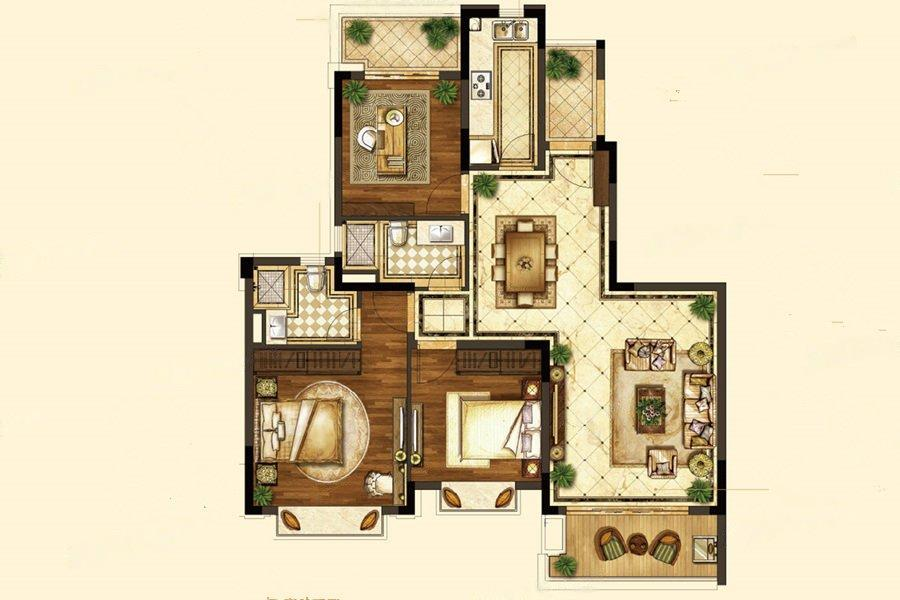 恒大龙珺  3室2厅1厨2卫