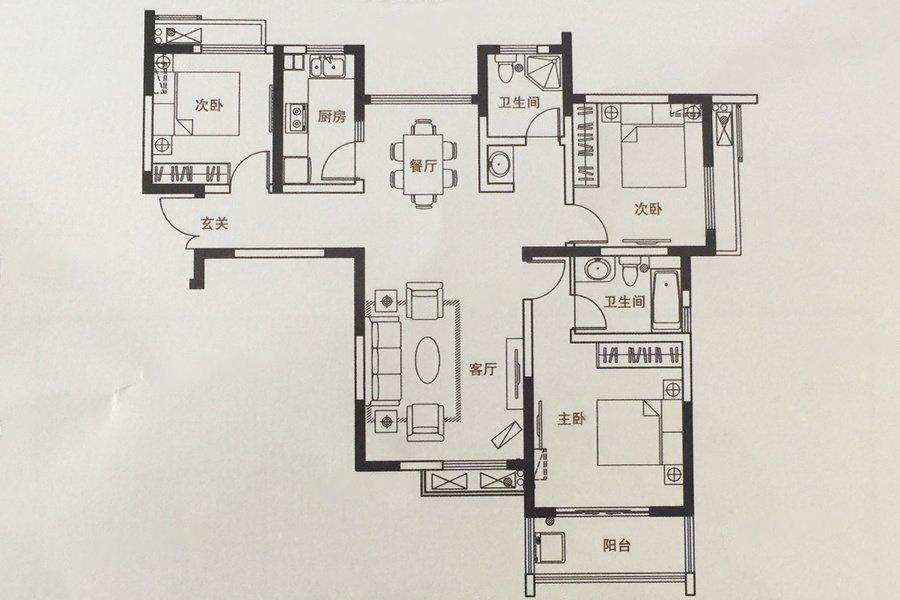 山水云房  3室2厅1厨2卫