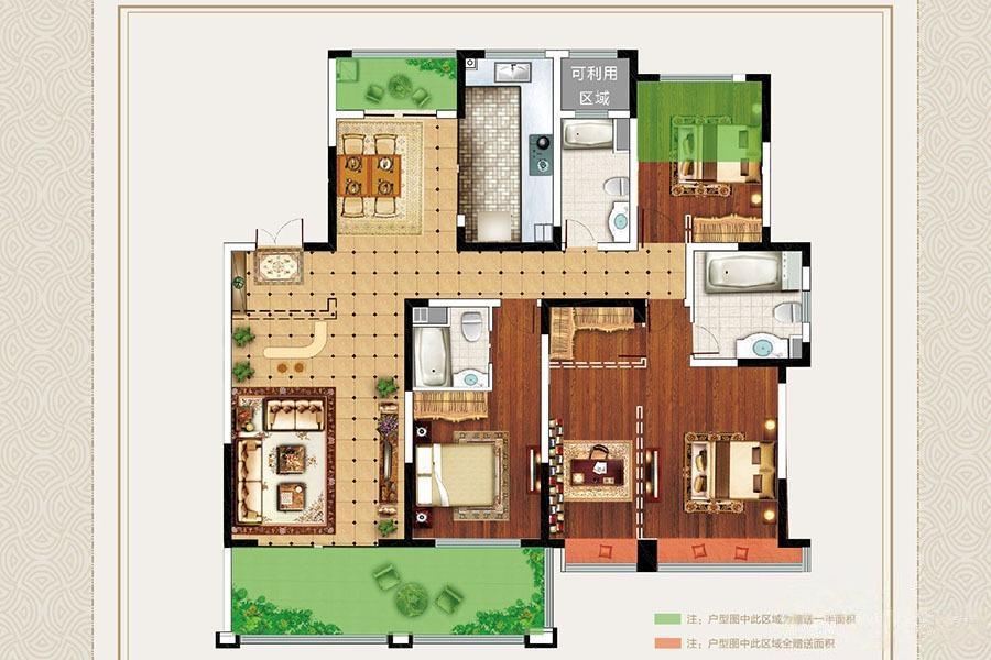 明月天珑湾  4室2厅1厨3卫