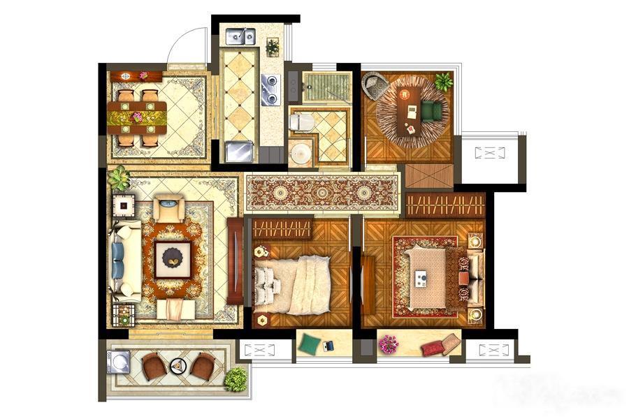 保利西江月  3室2厅1厨1卫