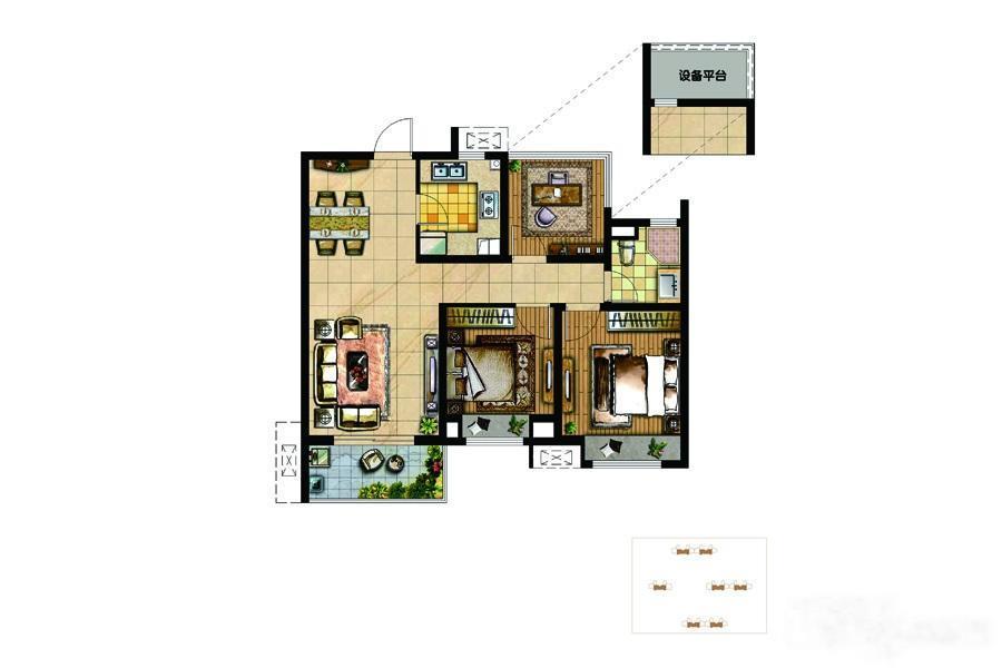 南京华润国际社区  3室2厅1厨1卫