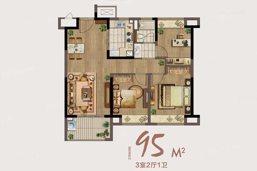 绿地海悦  3室2厅1厨1卫