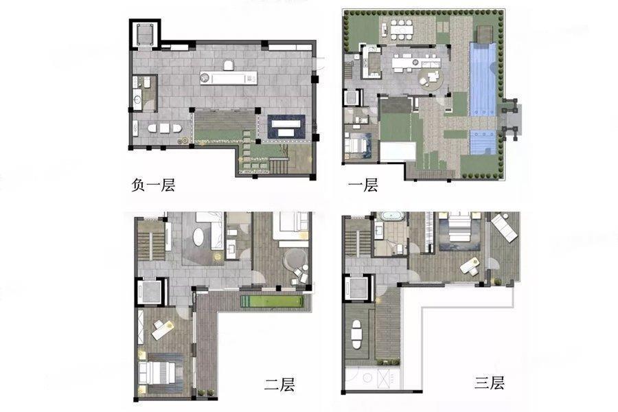 仁恒凤凰山居  4室2厅1厨4卫