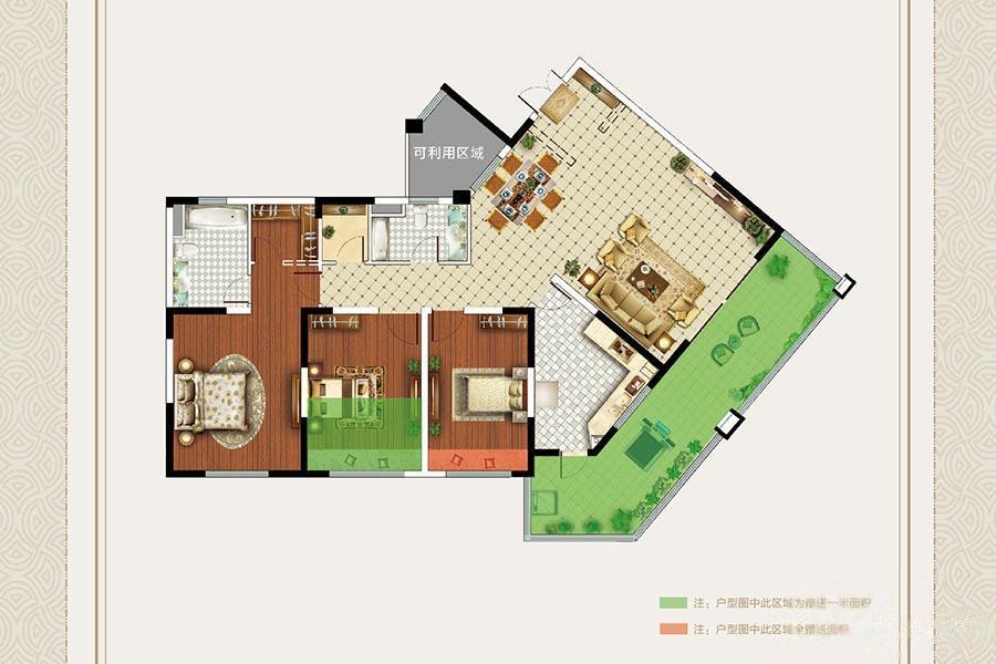 明月天珑湾  3室2厅1厨2卫