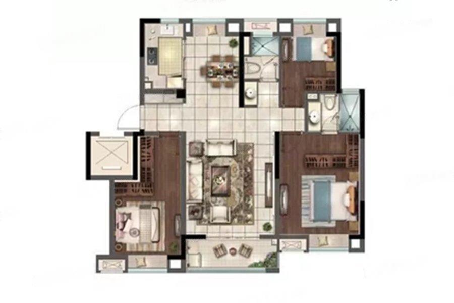 花样年家天下  3室2厅1厨2卫