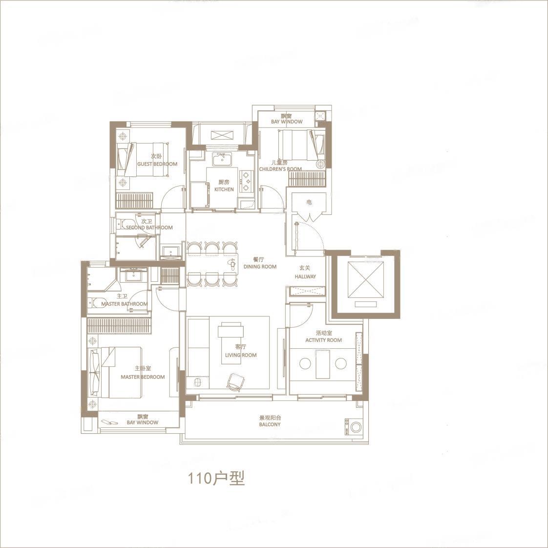 悦辰府  4室2厅1厨2卫