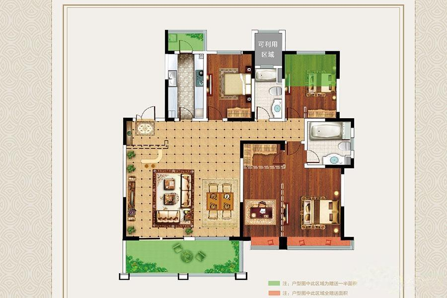 明月天珑湾  4室2厅1厨2卫