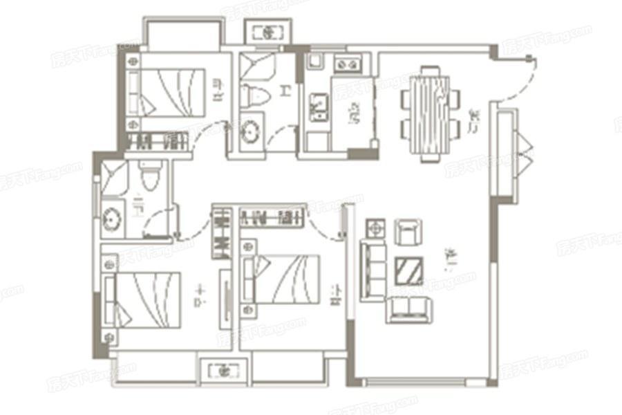 江旅玉湖国际  3室2厅1厨2卫
