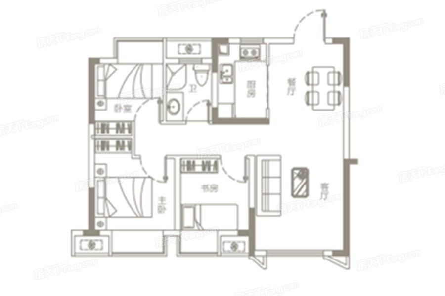 江旅玉湖国际  3室2厅1厨1卫